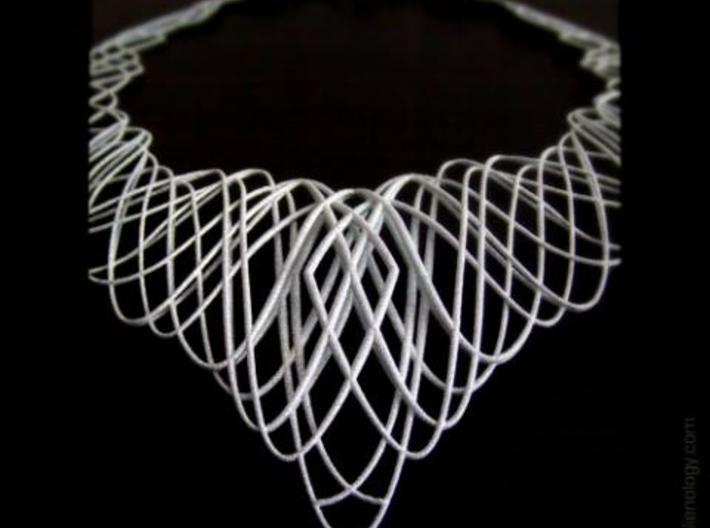 Guilloche Necklace 3d printed Guilloche Necklace