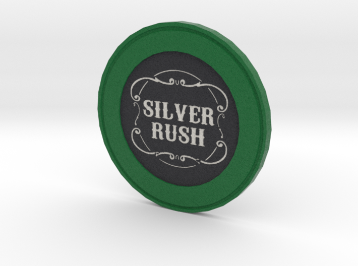 Silver Rush Poker Chip 3d printed