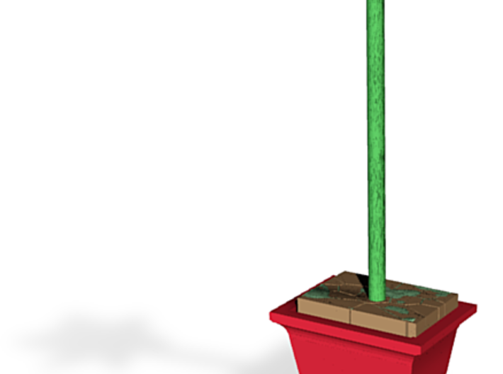 Daffodil Plant Model in Pot 3d printed