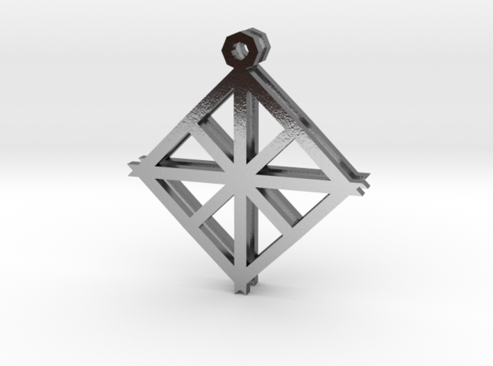 Diamond Alcove Earrings 3d printed
