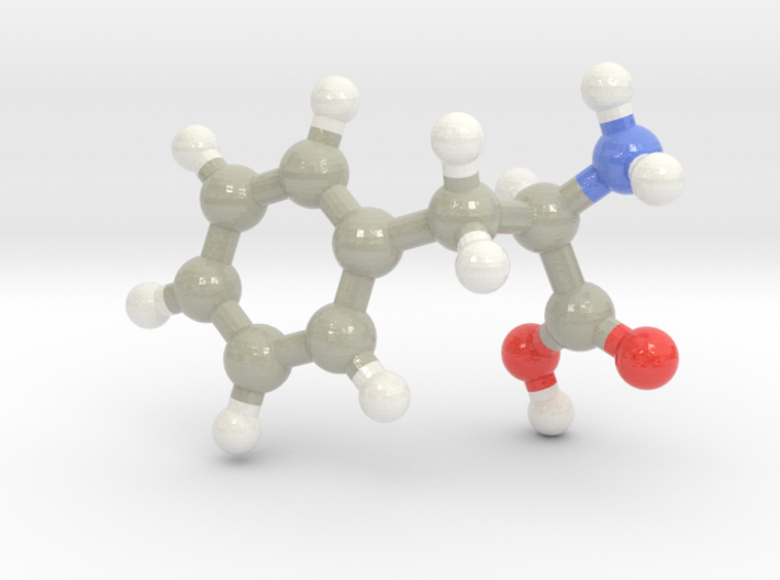 Phenylalanine (F) 3d printed