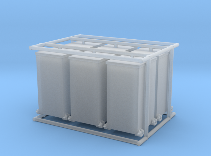 6 x 1/35 IJN Type 93 13mm ammo boxes 3d printed