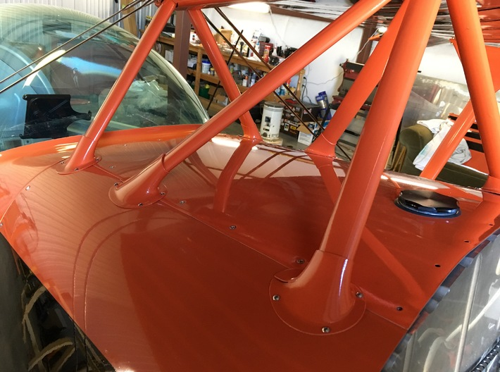 Eagle Right Rear Cabane Fairing-C 3d printed N216HP Cabane Fairing Installation