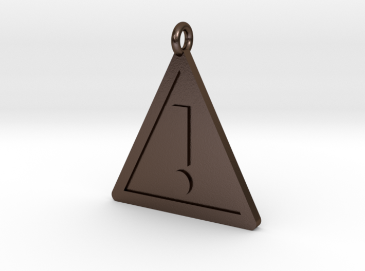 Warning Sign Pendant 3d printed