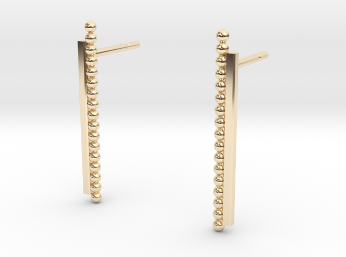 """""""At The French Window"""" Earrings - SMK 3d printed"""