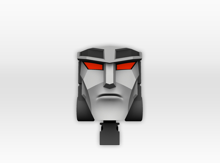 TR Faceplate & Helm for CW Megatron (G1 style) 3d printed