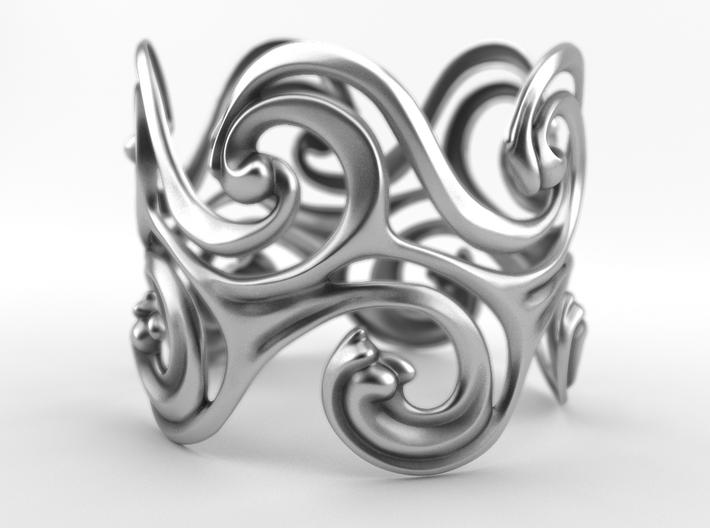 Surfing Waves Bracelet 3d printed