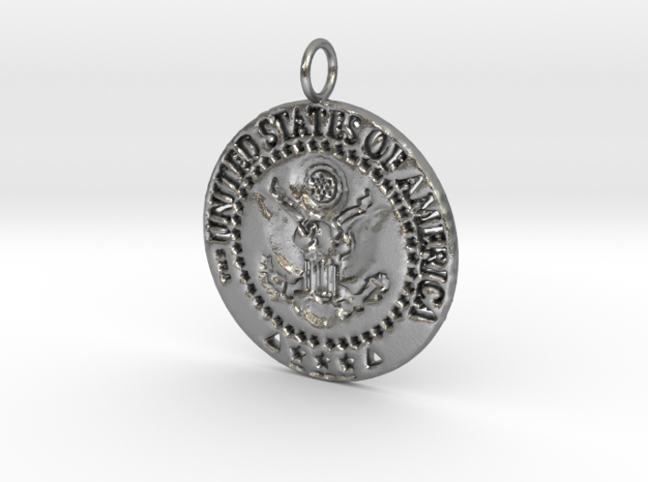 The Great Seal Pendant 3d printed