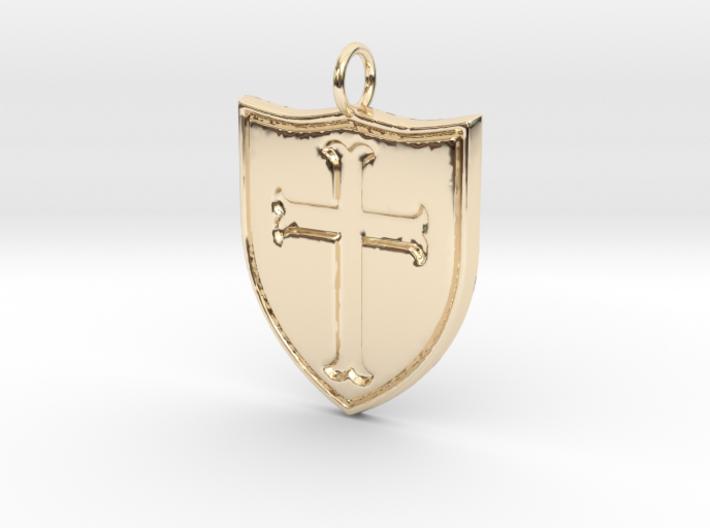 Crusader Pendant 3d printed