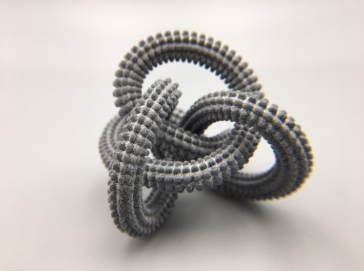 Perko Spikes Knot 3d printed Demo of model in Gray HP Strong and Flexible
