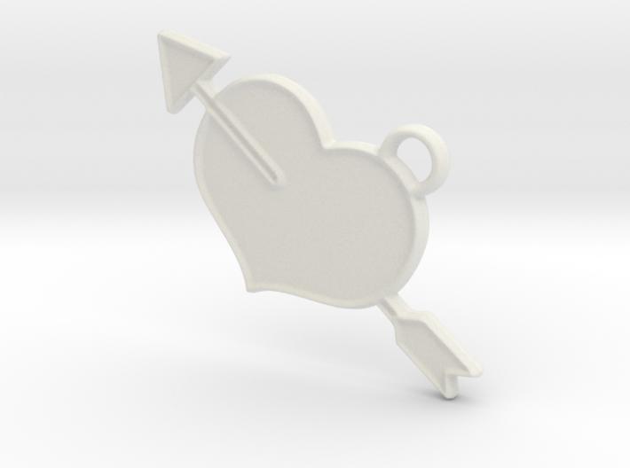 Shot Through The Heart Keyring 3d printed