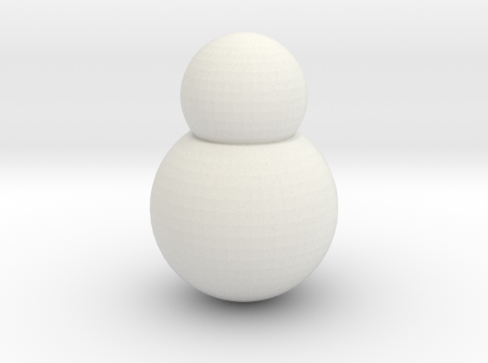 Snowman Hand Lights 3d printed