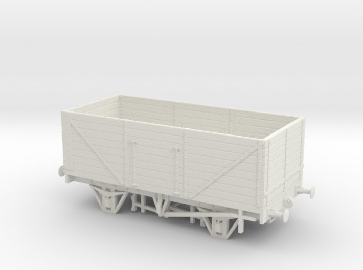 Private Owner Wagon: 18ft, 8 Plank, Side+End Doors 3d printed