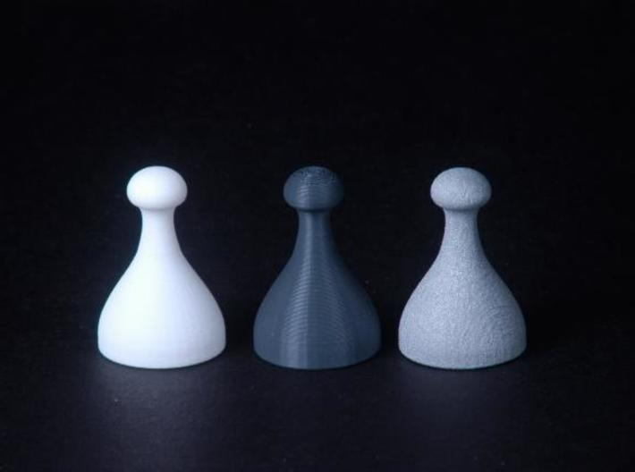 Chess Pieces 3d printed together
