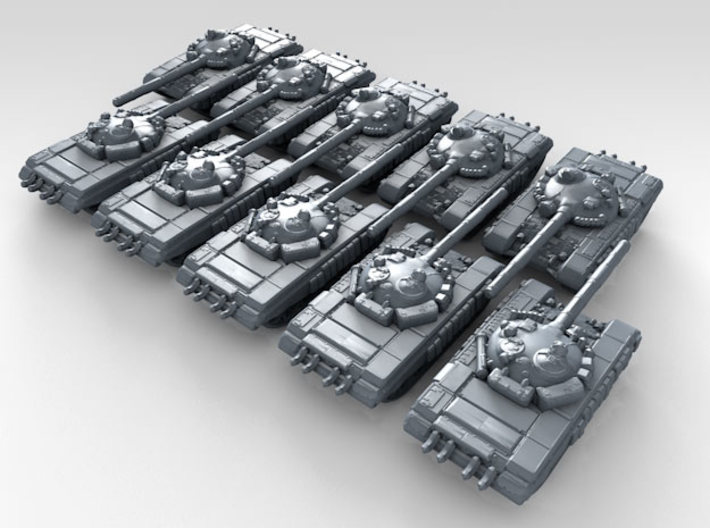 1/700 Russian T-72A Main Battle Tank x10 3d printed 3d render showing product detail