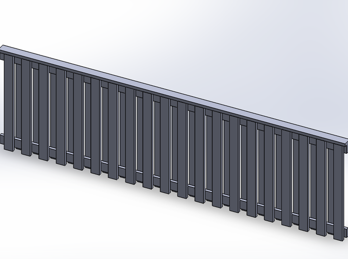 Privacy Fence 3pk - 6ft Style #2 3d printed