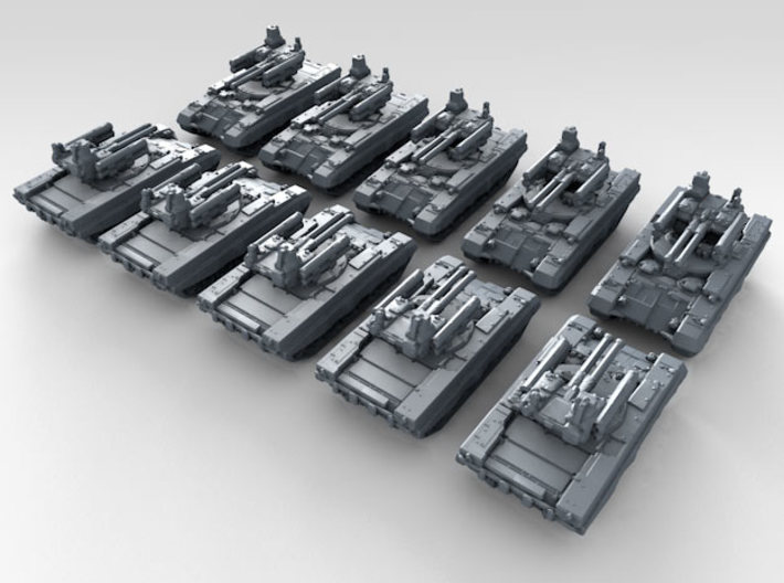 1/700 Russian BMPT Terminator AFV x10 3d printed 3d render showing product detail