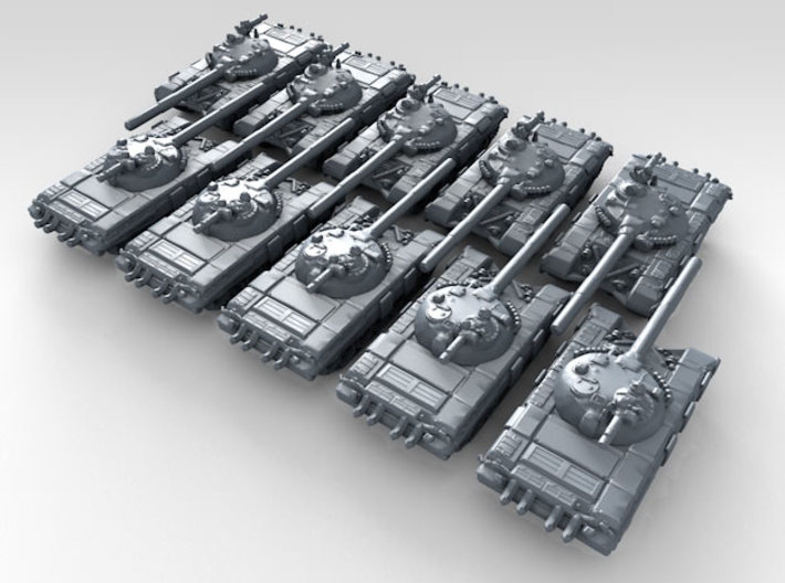"""1/700 Russian Object 172-2M """"Buffalo"""" MBT x10 3d printed 3d render showing product detail"""