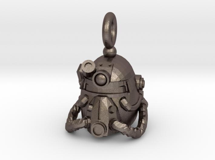 Power armor pendant 3d printed