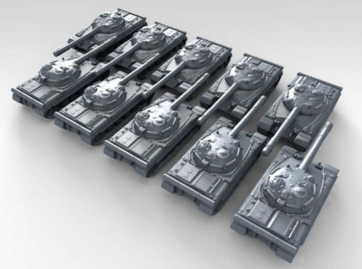 1/700 Russian Object 430 Main Battle Tank x10 3d printed 3d render showing product detail