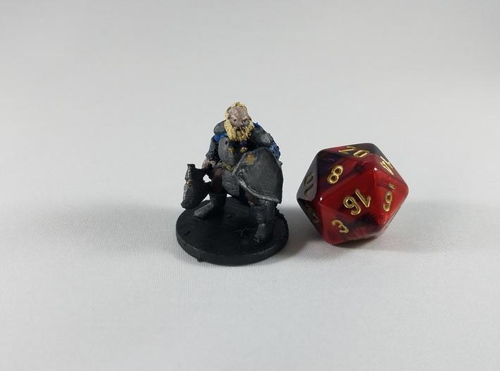 Dwarf Male Fighter - Ghelryn Foehammer 3d printed