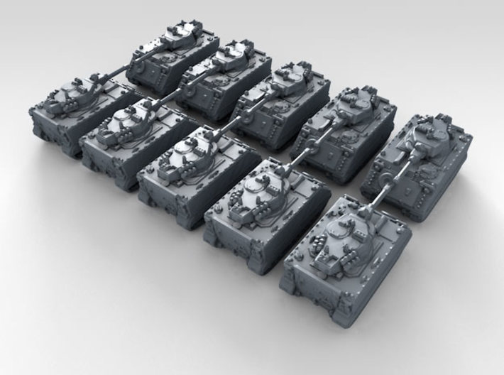 1/600 US M113 Armored Personnel Carrier x10 3d printed 3d render showing product detail