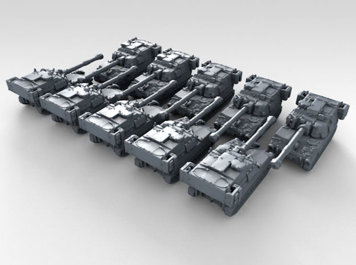 1/600 US M109A6 Paladin Self-Propelled Howitzerx10 3d printed 3d render showing product detail