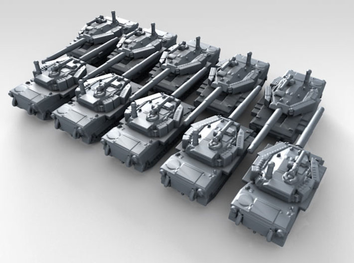 1/700 US M8 Buford Light Tank x10 3d printed 3d render showing product detail