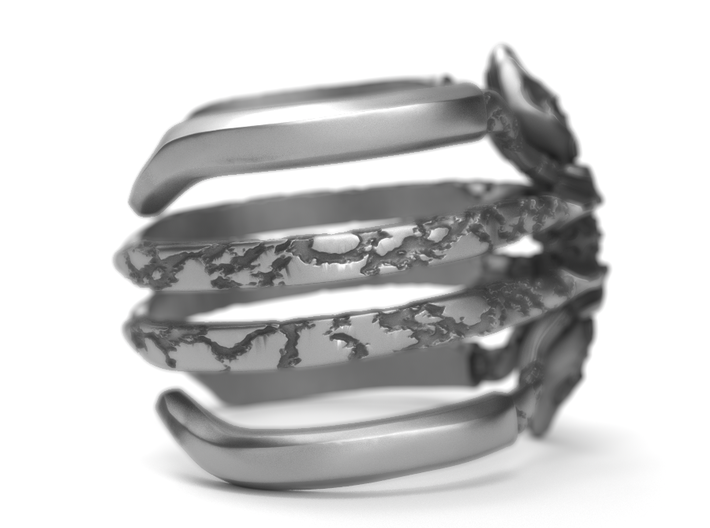 Recluse - Detailed Sterling Silver Ring 3d printed Find it on aged silver here: https://shop.pj3dartist.com/collections/jewelry/products/recluse-detailed-ring
