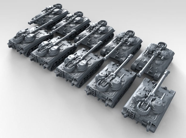 1/700 US T92 ACAV Light Tank x10 3d printed 3d render showing product detail