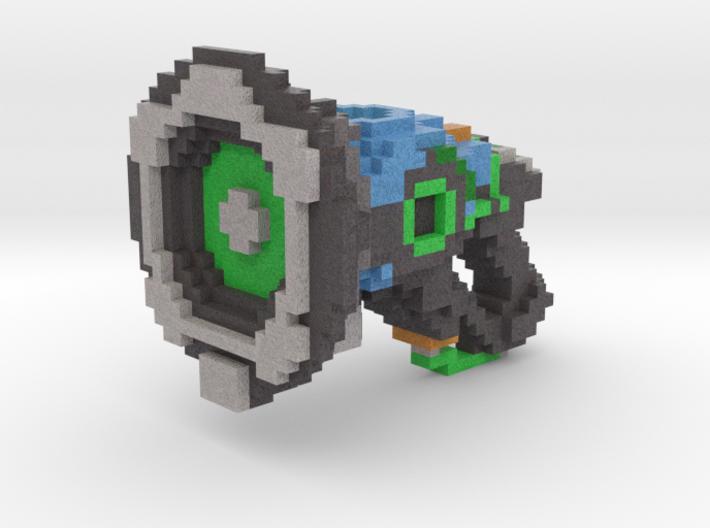 Lucio 8bit Gun 3d printed