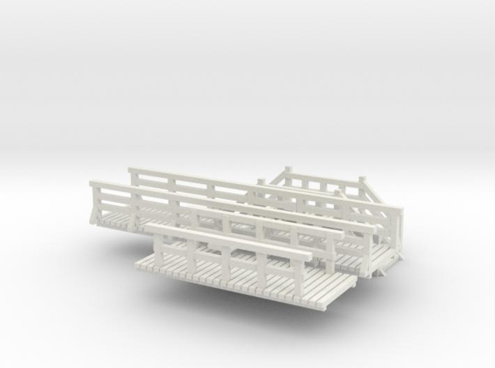 SET 3x Fußgängerbrücke (N 1:160) 3d printed