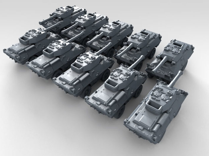 1/700 US Dragoon 300 LFV-90 Tank Destroyer x10 3d printed 3d render showing product detail
