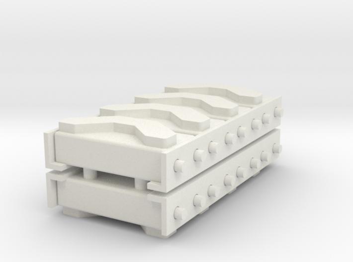 1/16 M3 / M4 Spare Track Rack (4) 3d printed