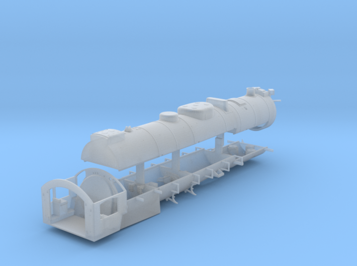 HO Scale Reading T1 Boiler Assembly 3d printed