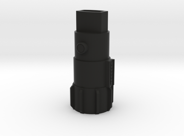 "Luke Skywalker Inspired Inhaler Body - ""Lighthaler 3d printed ""Lighthaler"" in black plastic"