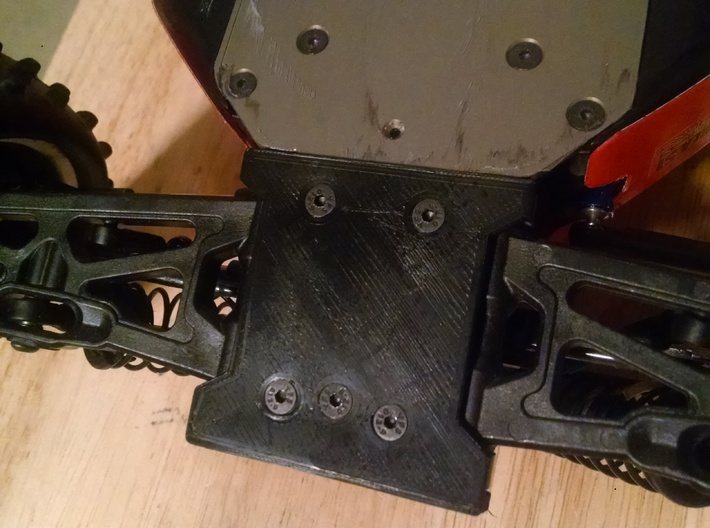 B64D Front Bumper with B mount cover tabs (Single) 3d printed