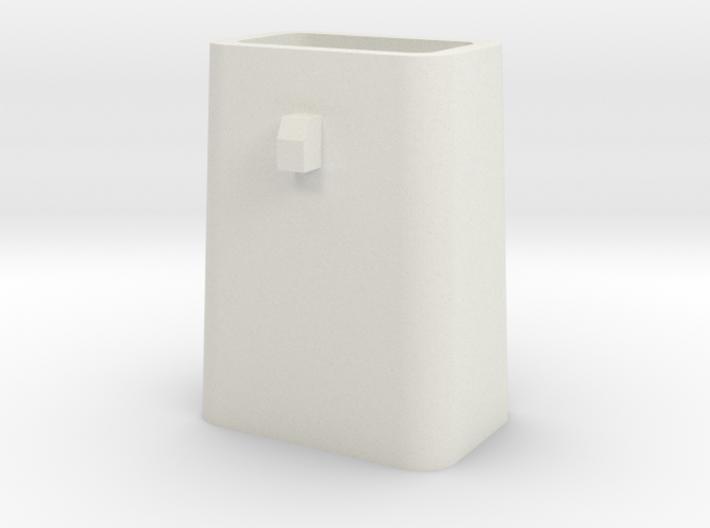 Stahlkokille 2 Zapfen quer ohne Boden 1:120 3d printed