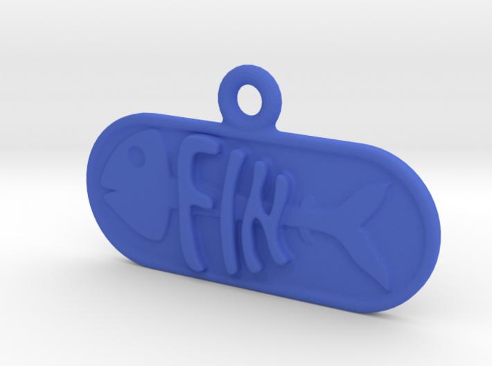 Fin Name Tag 3d printed