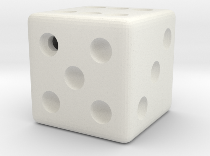 Weighted Dice (Favors a Roll of 5) 3d printed