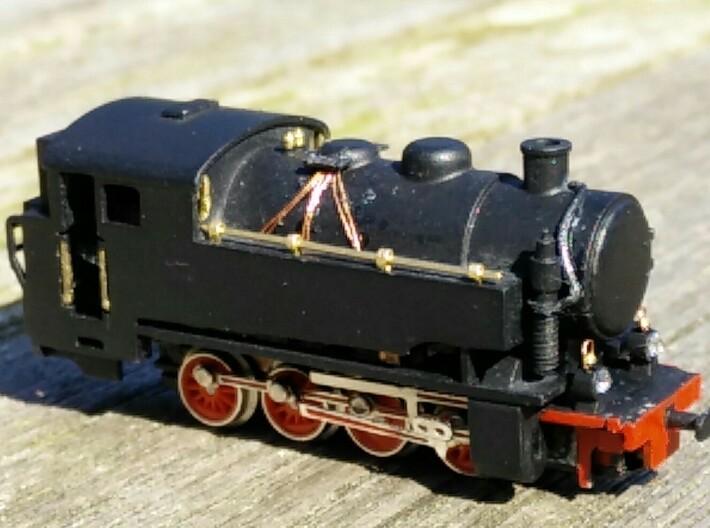 FCL 353 (Borsig) 3d printed La scocca dipinta, rifinita con mancorrenti e montata sulla meccanica di una BR55 mini-club. Non è necessaria alcuna modifica sulla meccanica mini-club