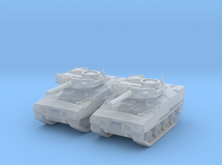 1/285 (6mm) US XM800T LAW Light Tank x2 3d printed 1/285 (6mm) US XM800T LAW Light Tank x2