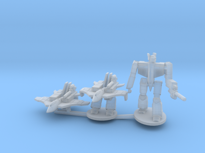 Omega Fighter on Sprue 3d printed