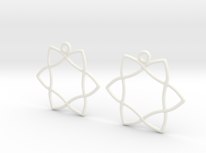 Celtic Weave Earrings - WE029 3d printed