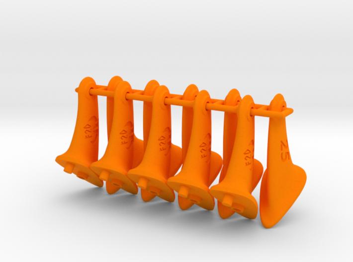 10 pcs. 25mm F2D control horn - 2nd gen 3d printed