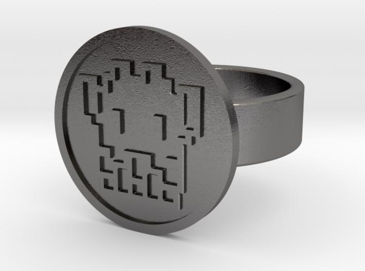 8 Bit Alien Ring 3d printed