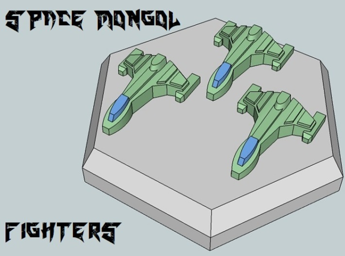 MicroFleet Space Mongol Carrier Group (21pcs) 3d printed