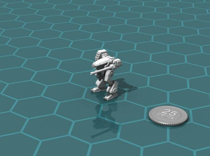 Terran Combat Walker 3d printed Render of the model, with a virtual quarter for scale.