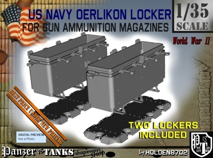 1-35 Oerlikon US Navy Ammo Locker 2 3d printed