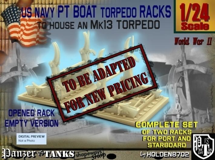 1-24 PT Torpedo Rack TypC Empty 3d printed